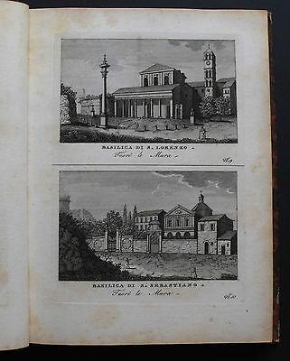 1816c.Inc/Rame.ROMA:Basilica di S.Lorenzo-Basilica.di S.Sebastiano.Fuori Le Mura