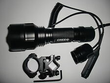 Long Throw CREE Q5 1-Mode Flashlight Hunter defender Torch for Shotgun/Rifle 6P