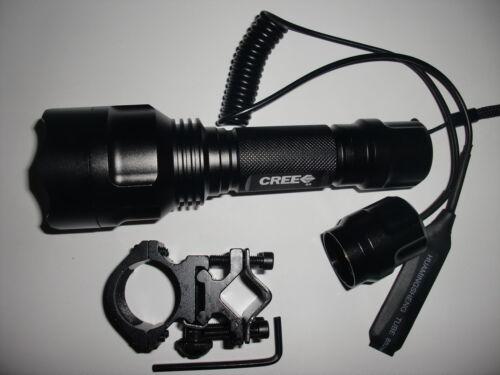 Long Throw CREE Q5 1-Mode Flashlight Hunter defender Torch for Shotgun//Rifle 6P
