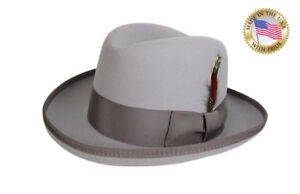 130890feae7 Details about SILVER GODFATHER Fedora Hat Shannon Phillips Rain Drop Grey  Homburg NEW NHT25-12