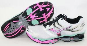 promo code 1fe0f 94f79 Image is loading NEW-Womens-MIZUNO-Wave-Creation-14-White-Pink-