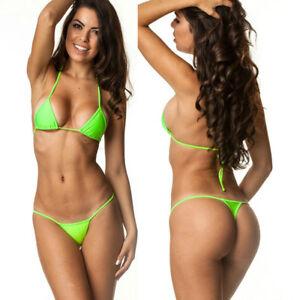 9a844ea14e Coqueta Sexy Bathing Suit Brazilian Tri Top & Micro Thong Bottom ...