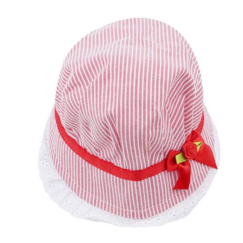 Baby Caps Lace Bow Summer Girl Hat Children Striped Sun Hat Cap Bucket Hat LP