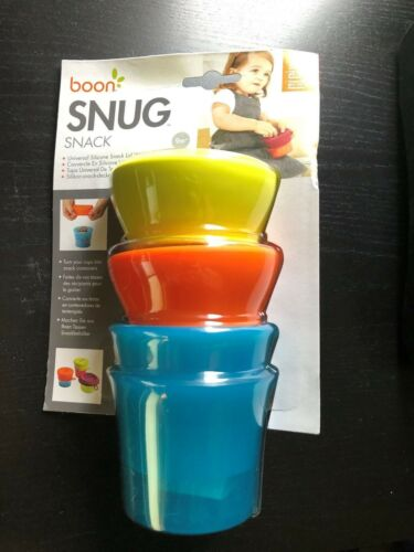 Green 2 Stackable containers /& Lids Boon SNUG Snack