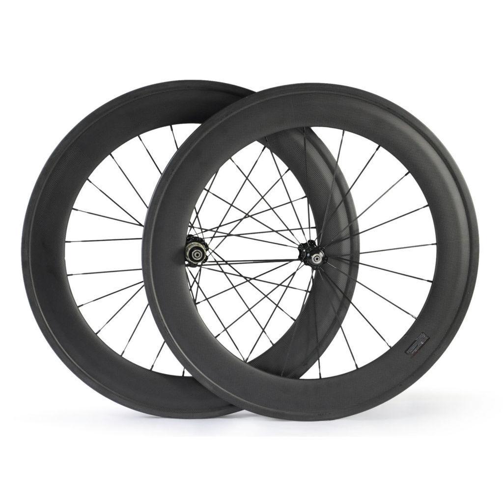 700C 23mm Width 88mm depth Tubular Carbon bicycle wheels Road Bike wheelset
