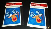 100 Mini Treat Plastic Candy Bags Reindeer Party Supplies 4 X 6 Christmas