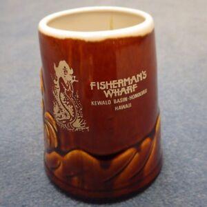 Vintage-Hawaiian-Fishermans-Wharf-Honolulu-Hawaii-Kewalo-Basin-Tiki-Bar-Mug-Daga