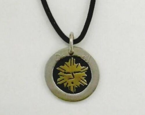 Far Fetched Sterling Silver /& Brass Sunny Disposition Necklace