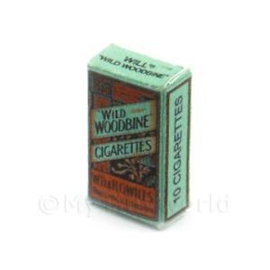 Miniatura-Per-Casa-Delle-Bambole-Selvatico-Woodbine-Sigaretta-Confezione