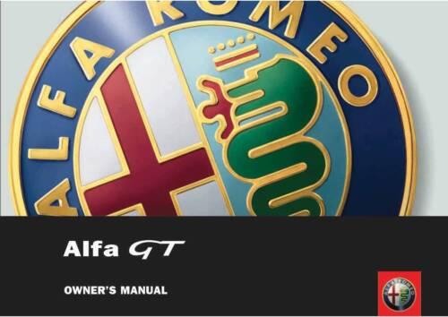 ALFA ROMEO GT OWNERS HANDBOOK MANUAL 2005-2010 New Print REPRO