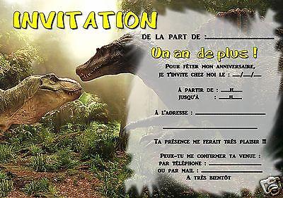 5 ou 12 cartes invitation anniversaire DINOSAURE réf 306   eBay