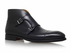 MEN-HANDMADE-BLACK-DOUBLE-MONK-STRAP-BOOT-HIGH-QUALITY-PURE-LEATHER-SHOES