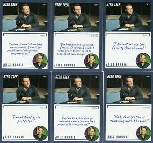 Star-Trek-TOS-Archives-amp-Inscriptions-card-57-Nilz-Baris-all-14-different-Var