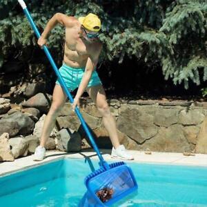 Pool Leaf Skimmer Rake Net Schwimmen Spa Reinigung Mesh Teich Bl?tter Tasche GE