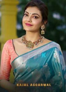 Saree-Kanchipuram-Silk-Sari-Designer-Wedding-Party-wear-Traditional-Indian-Saree
