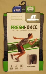 Russell Athletic Boys Freshforce Odor Protection Performance Boxer Brief