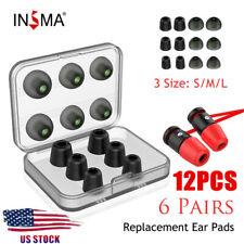 10X Noise Cancellation Memory Foam Earbuds Tips Earplug In-Ear Earphones Cover;