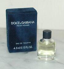 Dolce and Gabbana Pour Homme Eau de Toilette Deluxe Mini .15oz fl 4.5ml for Men