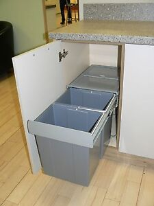 Pull-out-Soft-Close-40-Ltr-Recycling-Kitchen-Waste-Bin-400mm-2-Internal-Bins