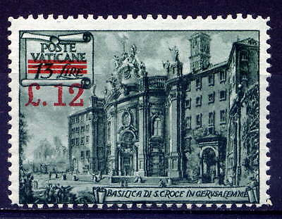 VATICAN Sc#154a 1952 Surchage perf 14X13.5 MLH