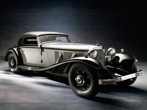 "24/"" x 36/"" Poster 1935 Mercedes Benz 500K Cabriolet A Luxury"