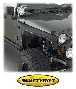 Image is loading Smittybilt-XRC-Armor-Front-Fenders-2007-2017-Jeep-