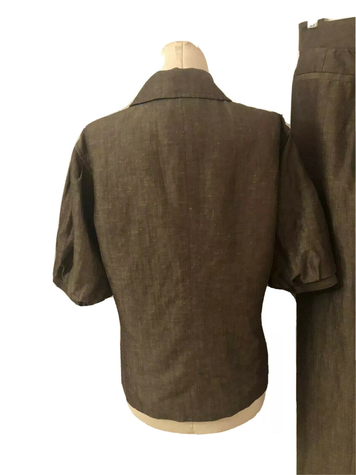 Lafayette 148 New Linen/Wool Blend Pant Suit Size… - image 9