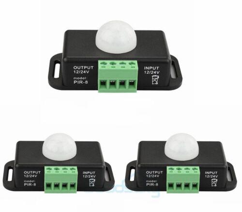 Lot 12V-24V Body Auto Infrared PIR Motion Sensor Switch For LED Light Strip
