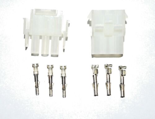 Complete Molex 3 Wire Connector Set with Pins   2 SETS Molex MLX Connector