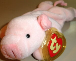 """TY BEANIE BABY 1997 """"SQUEALER"""" PIG 3rd Generation Tag 5th Tush MINT & RETIRED"""