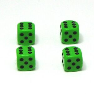 Set-of-Four-Ninja-Green-Dice-Dust-Caps-X4-80-039-s-Retro-Valve-Caps-BMX-VW