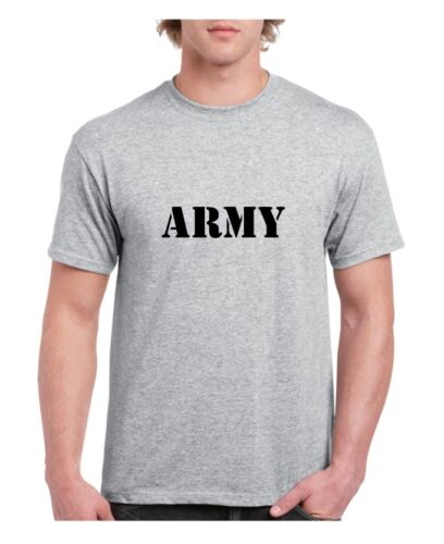 ARMY Style White or Grey Adult T-Shirt Pride Black