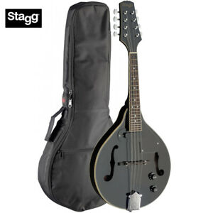 Intelligent Stagg M50-e Premium Un Style Bluegrass Acoustic Electric Mandoline Noir + Gig Bag-afficher Le Titre D'origine