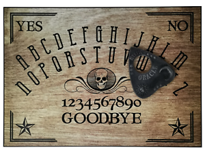 A4-Hand-Finished-Skull-Wood-Effect-Ouija-Board-with-Mystic-Oracle-Planchette
