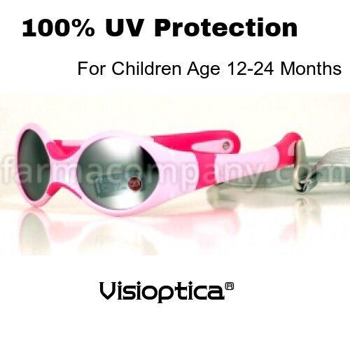 VISIOPTICA Children/'s Girls Sunglasses PINK 12-24 Months-100/% UV Protection