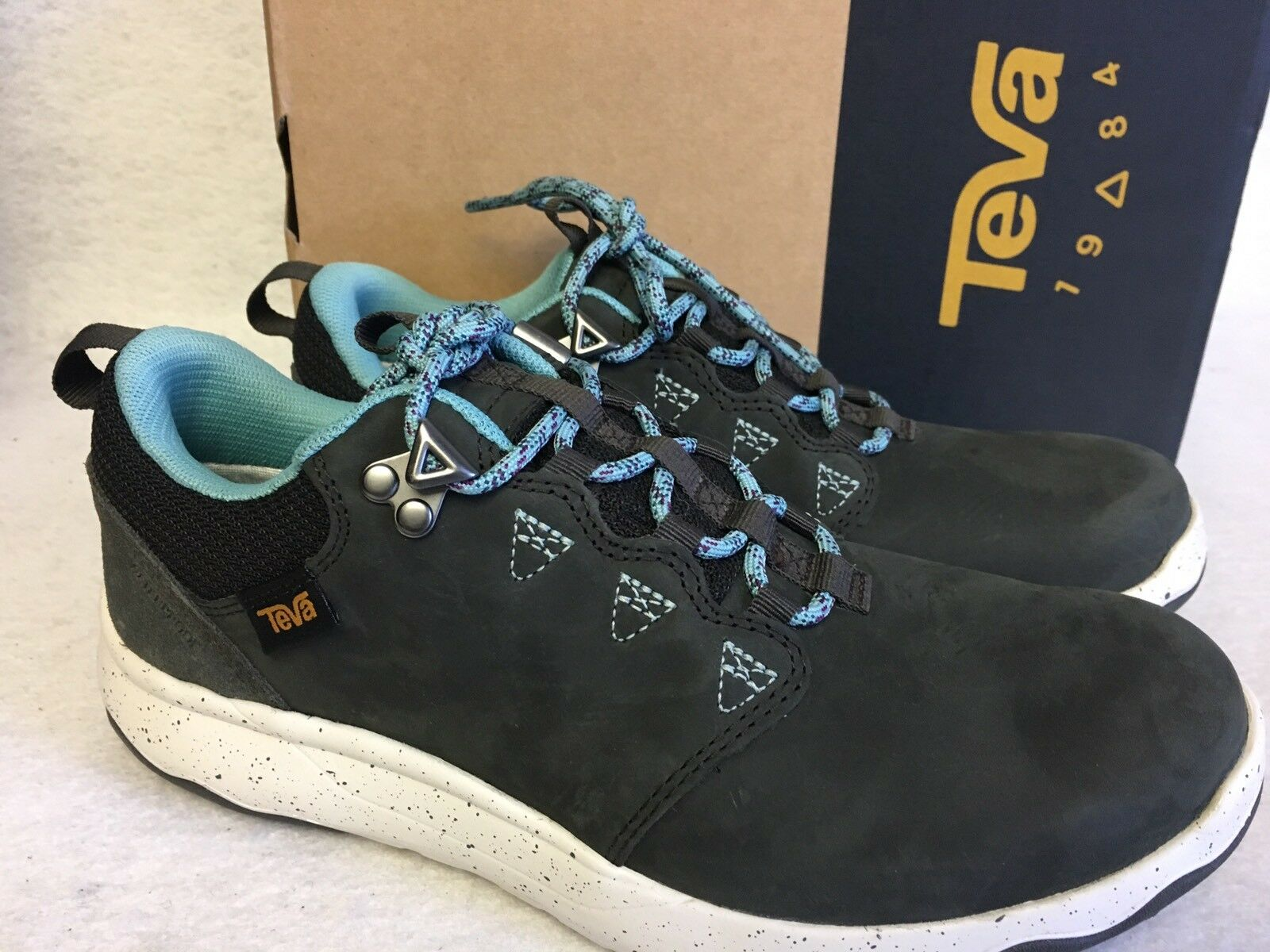 TEVA ARROWOOD LUX WP Black Olive LEATHER LEATHER LEATHER SNEAKER TRAIL HIKING SHOES sizes WOMENS 4fc105