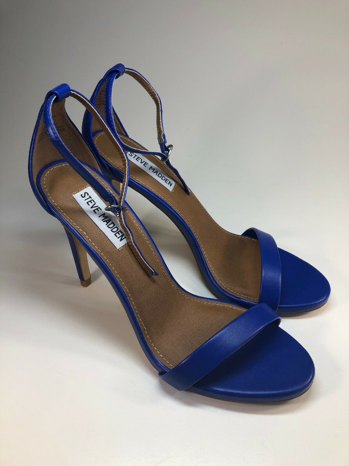 Steve Madden NEW STECY bluee Ankle Strap Heels Pumps Womens Size 8.5 M