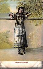 B76489 Romania Port Popular Dansatoare  1907 dance  costumes types folklore