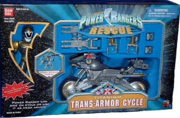 Power Rangers Lightspeed Rescue Trans armadura ciclo de titanio RANGER FÁBRICA SELLADA