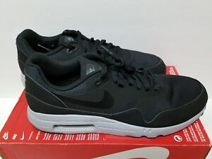 Men's Nike Air Max 1 Ultra 2.0 Essential Shoes Size 13 Black Grey 875679 002
