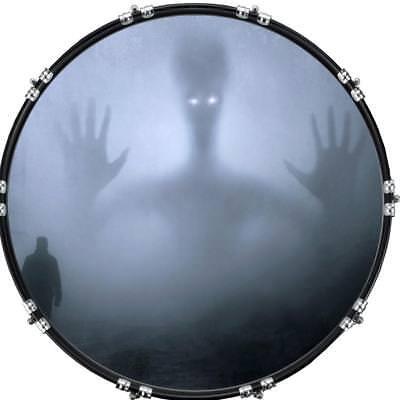 Custom Aquarian 20 Bass Kick Drum Head Front Drumskin Big Top Peak