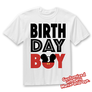 Image Is Loading Matching Disney Family Birthday Boy Tshirts Mickey Mouse