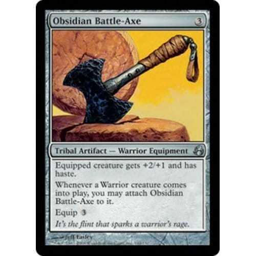 Obsidian Battle-Axe Condition Excellent MTG MORNINGTIDE