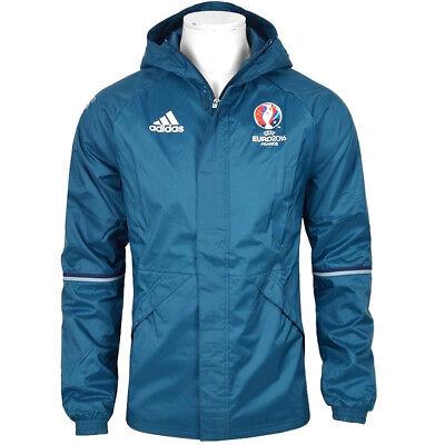 Adidas Ec Rain Jacket Kinder Regenjacke Windbreaker Parka Wind Jacke Petrol Bau