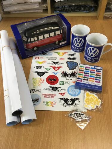 VW Campervan Moneybox Mugs x2 Coasters Posters x3 Keyrings x2 /& Sticker Job Lot