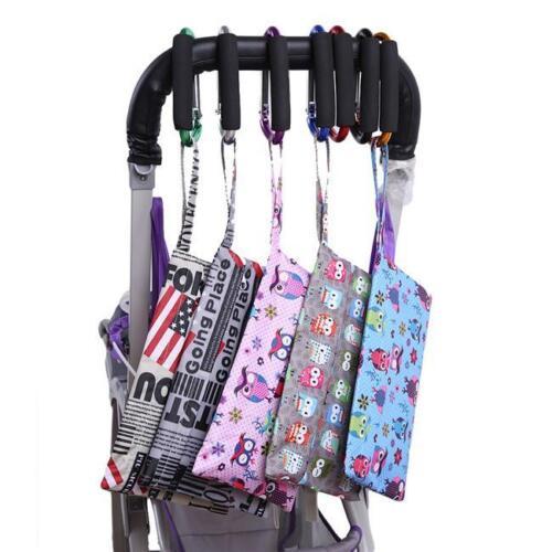 Baby Stroller Buggy Puschair Bar Hook Strap Pram Hooks Carabiner Clip C