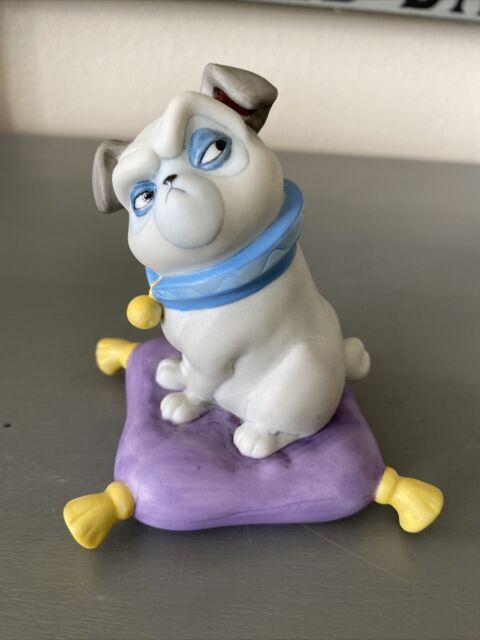 Vtg Disney Pocahontas Percy the Pug Dog  on Purple  Pillow Ceramic Figurine