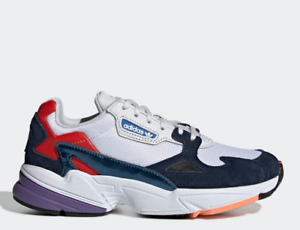 [Adidas Originals] Falcon CG6246 - White Navy, Women's Lifestyle Running shoes