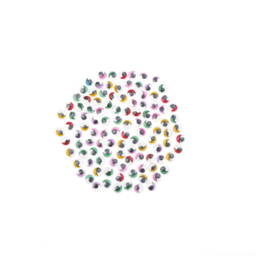 100PC Pestañas Wiggly Wobbly pelotas de color ojos Lash Color: Multicolor