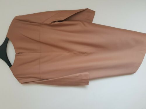 Size Dress caramello Chic New Brand 12 lana elegante 38 Cos color ed Yz88qw